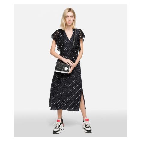 Šaty Karl Lagerfeld Karl Dots Maxi Dress W/ Tie - Různobarevná