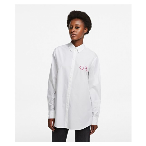 Košile Karl Lagerfeld Karl Legend Tunic Shirt - Bílá