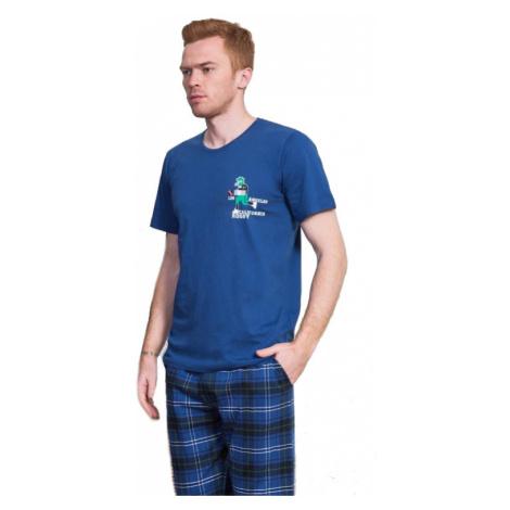 Pánské pyžamo kapri Vienetta Secret Rugby   khaki