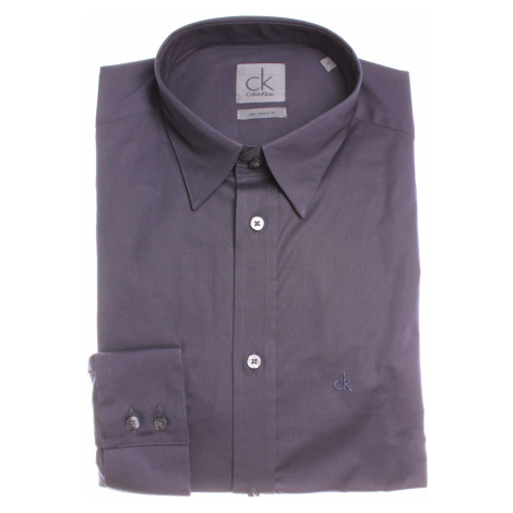 Calvin Klein Calvin Klein pánská tmavě fialová košile