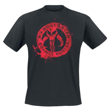 Star Wars The Mandalorian - Red Logo Tričko černá