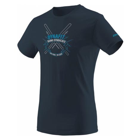 Pánské tričko Dynafit Graphic Cotton Blueberry