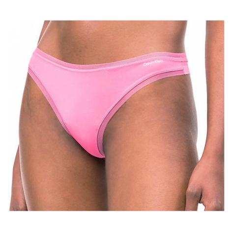 Dámské tanga Calvin Klein QF1666E růžové | růžová