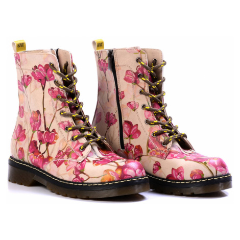 Goby růžové boty Pink Flowers