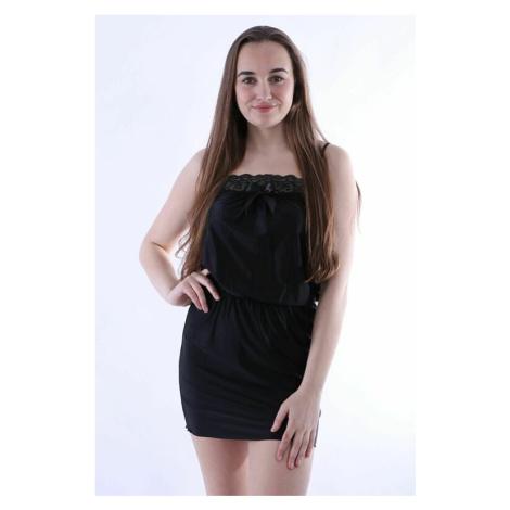 Luxusní dámská noční košile Tabia černá Excellent Beauty