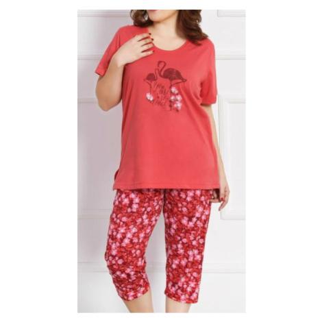Dámské pyžamo kapri Vienetta Secret Petra | korálová