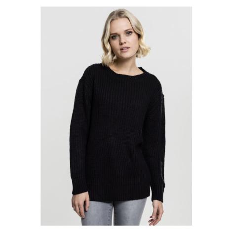 Ladies Basic Crew Sweater - black Urban Classics