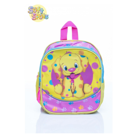 Yellow school backpack with a dog Fashionhunters