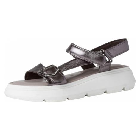 TAMARIS Páskové sandály tmavě šedá