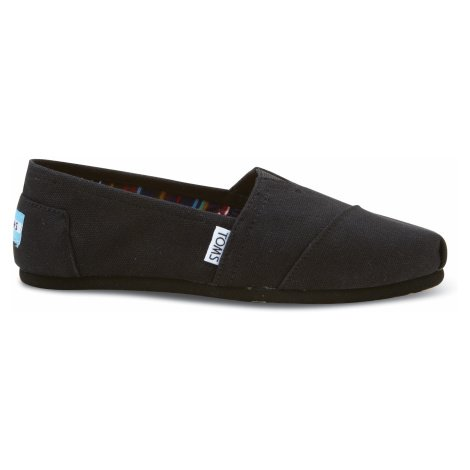 CLASSIC-Black On Black Canvas Toms