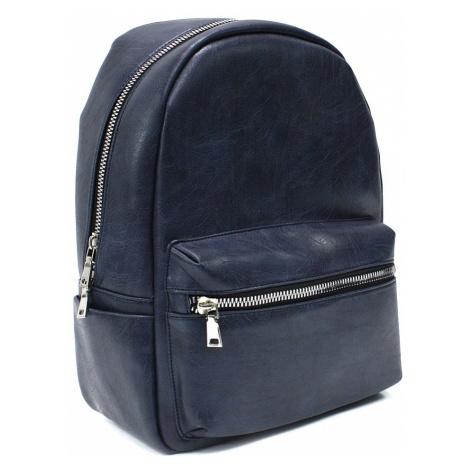 Tmavě modrý pánský zipový batoh Clive Mahel