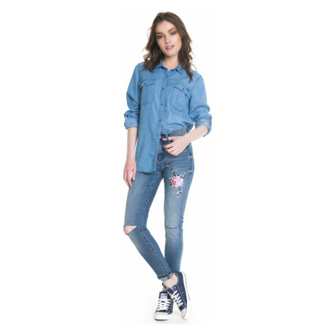Big Star Woman's Trousers 115490 Light Jeans-267