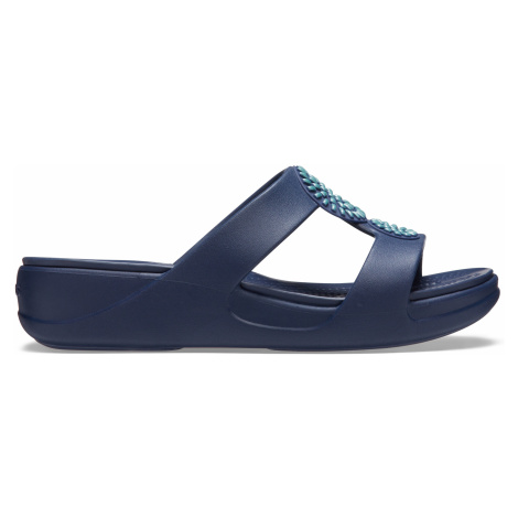 Crocs Crocs Monterey Diamante WedgeW Navy W9