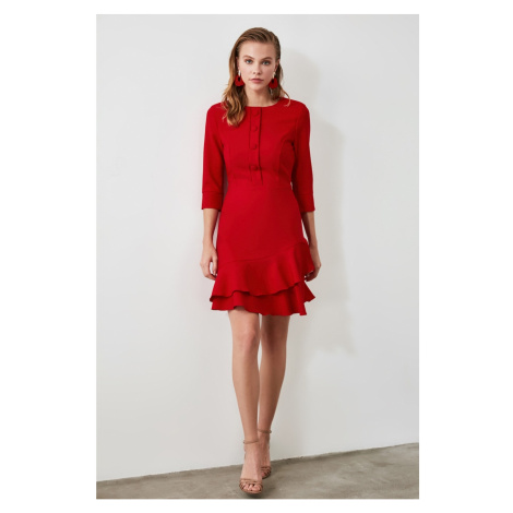 Trendyol Red Button Detailed Volli dress