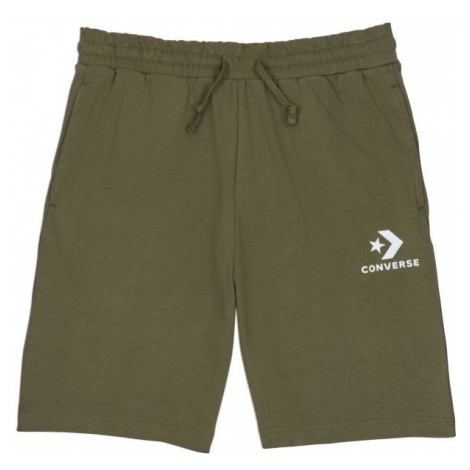 Converse STAR CHEVRON KNIT SHORT zelená - Pánské šortky