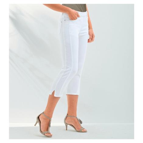 Blancheporte Strečové korzárské kalhoty bílá