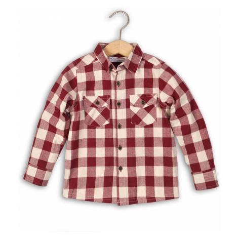 Červená chlapecká károvaná košile s dlouhým rukávem Eliseo Pidilidi