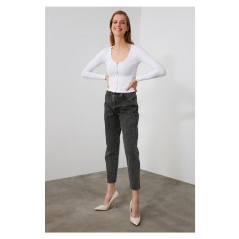 Trendyol Grey High Waist Mom Jeans