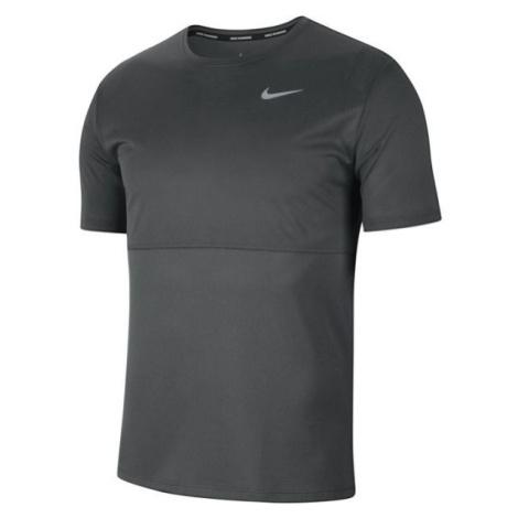 Nike BREATHE RUN TOP SS M šedá - Pánské běžecké tričko
