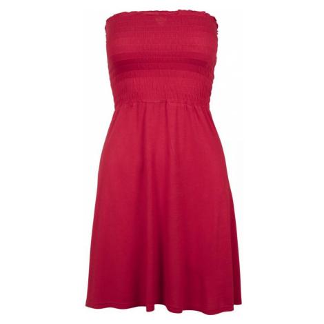 Ladies Smoke Bandeau Dress - fire red Urban Classics