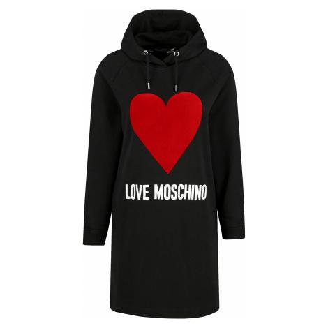 Černé mikinové šaty - LOVE MOSCHINO