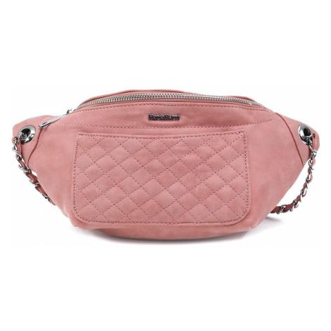Růžová dámská trendy kabelka ledvinka Celesse Mahel