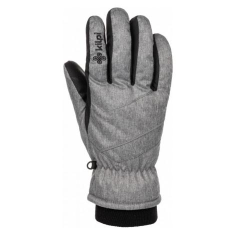 Unisex lyžařské rukavice Tata-u světle šedá - Kilpi