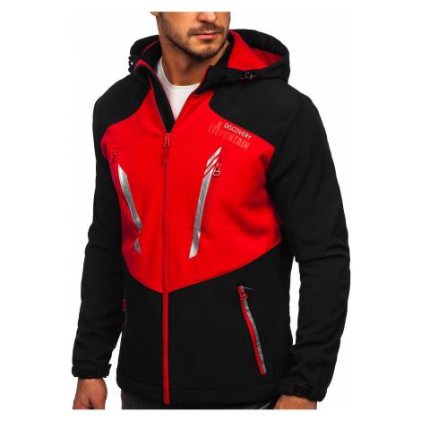 Černo-červená pánská softshellová bunda Bolf HH022 J.STYLE