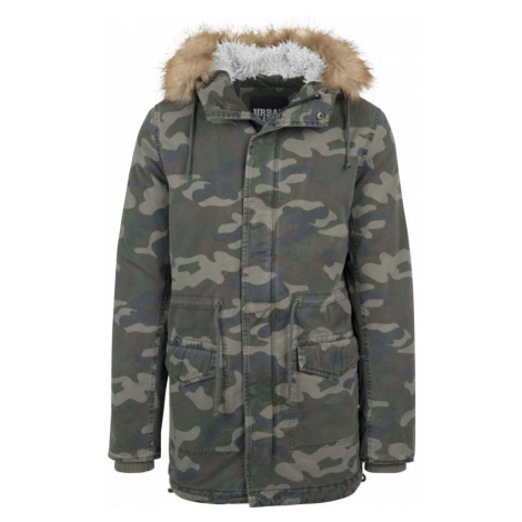 BUNDA URBAN CLASSICS Garment Washed Camo - zelená