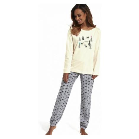 Dámské pyžamo Cornette 627/156 It s snowing 2 | krémová