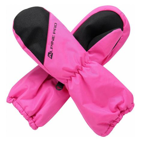 ALPINE PRO HANGO Dětské lyžařské rukavice KGLS009411PA fuchsiová