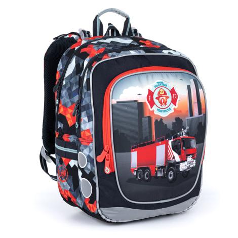Ultralehký školní batoh s hasičským autem Topgal ENDY 21013 B
