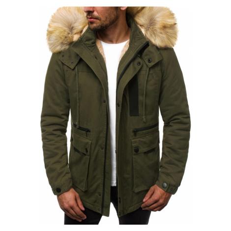 Buďchlap Trendy zelená zimní bunda parka JD/323Z