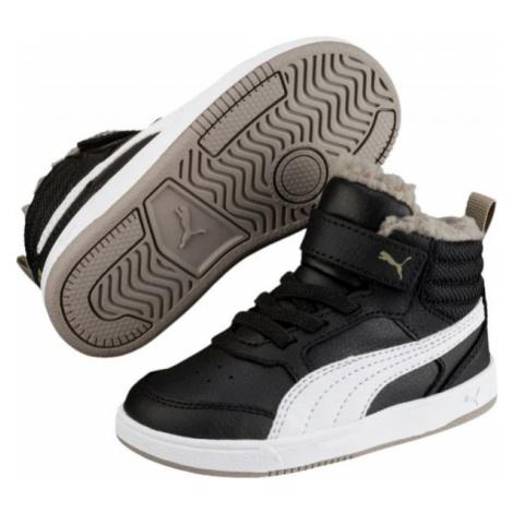 Puma REBOUND STREET V2 FUR PS černá - Dětská zimní obuv