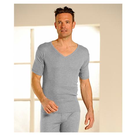 """Blancheporte Termo tričko s výstřihem do """"V"""", sada 2 ks šedá"""