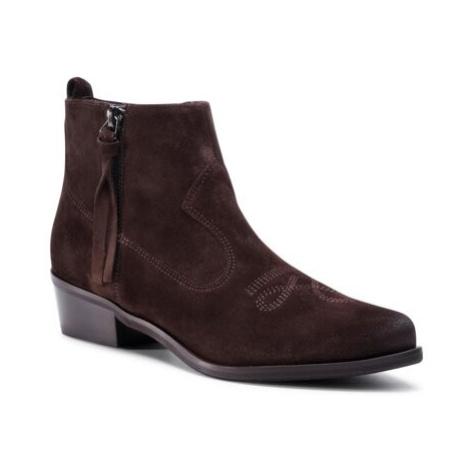 Kotníkové boty Gino Rossi 71321-02W Přírodní kůže (useň) - Semiš