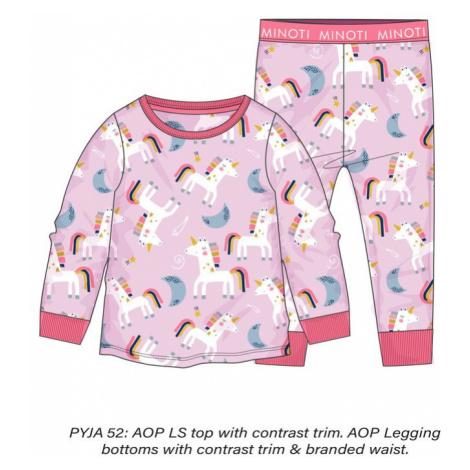 Minoti Pyžamo dívčí, Minoti, PYJA 52, růžová