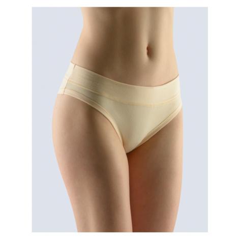 GINA Dámské kalhotky bokové brazilky 16137-LBH tělová