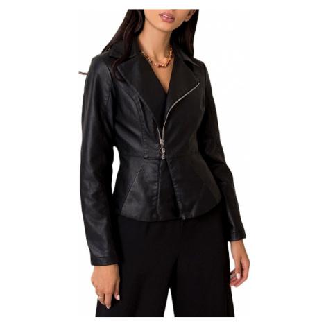 Dámská černá koženková bunda BASIC