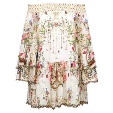 Šaty Camilla OFF SHOULDER multicolor vzorkování