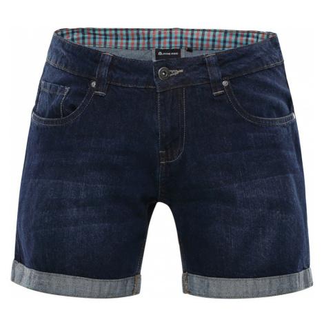 ALPINE PRO GERYGA Dámské jeansové šortky LPAN223691 námořnická modř