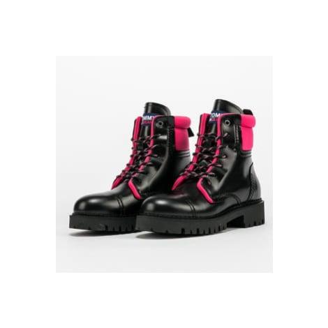 TOMMY JEANS Fashion Pop Color Boot black / glamour pink Tommy Hilfiger