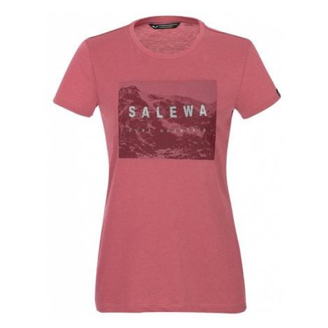 Salewa triko dámské W Frames S/S TEE, růžová