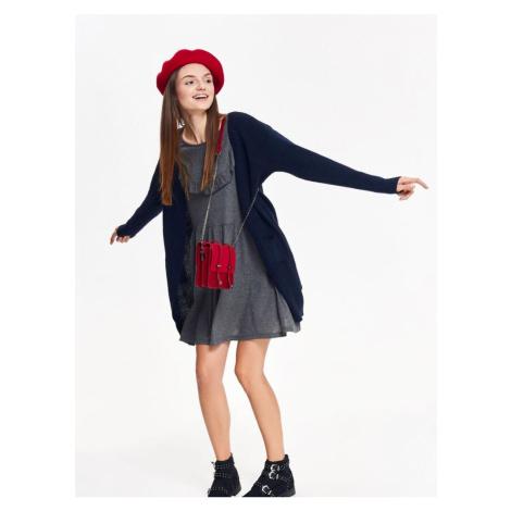 Top Secret Šaty dámské šedé s dlouhým rukávem
