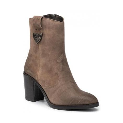 Kotníkové boty Lasocki N023 Přírodní kůže (useň) - Semiš