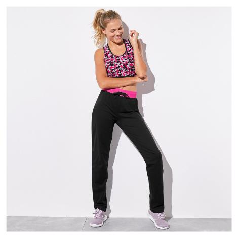 Blancheporte Sportovní kalhoty černá/fuchsie