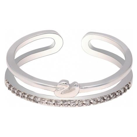 Anna Grace prstýnek Silver Sparkle Crystal Swan 74 - 18 mm
