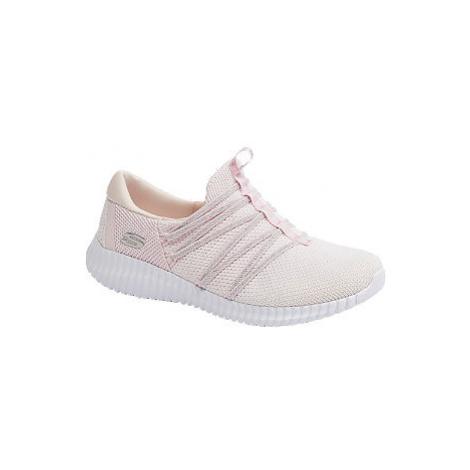 Růžové slip-on tenisky Skechers