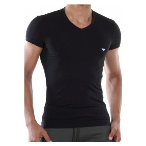 Pánské tričko Emporio Armani 110810 CC729 černá Šedá