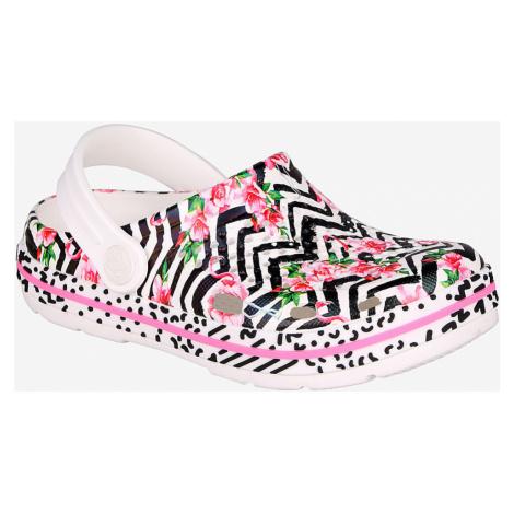 COQUI LINDO Dětské sandály 6423-591 White flamingo